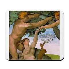Sistine Chapel Adam & Eve Mousepad