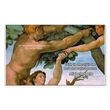 Sistine Chapel Adam & Eve Rectangle Decal