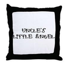 Uncle's Little Angel Throw Pillow