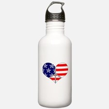 Peace Love America Water Bottle