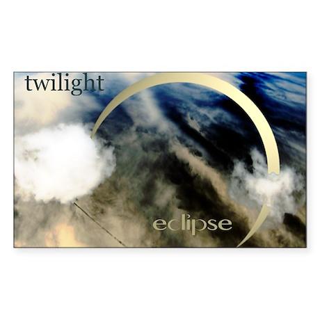Twilight Eclipse Sticker (Rectangle)