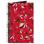 Cute Christmas Elf with Candy Cane Journal