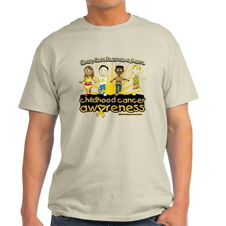 Childhood Cancer Every Child Light T-Shirt