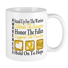 Childhood Cancer StandUp Mug