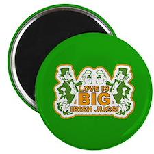 "Big Irish Jugs St.Patrick's Day 2.25"" Magnet (10 p"
