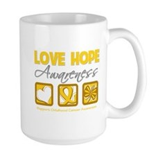 Childhood Cancer Love Hope Mug