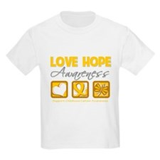 Childhood Cancer Love Hope T-Shirt