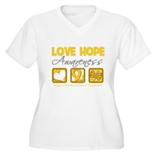 Childhood Cancer Love Hope T-Shirt