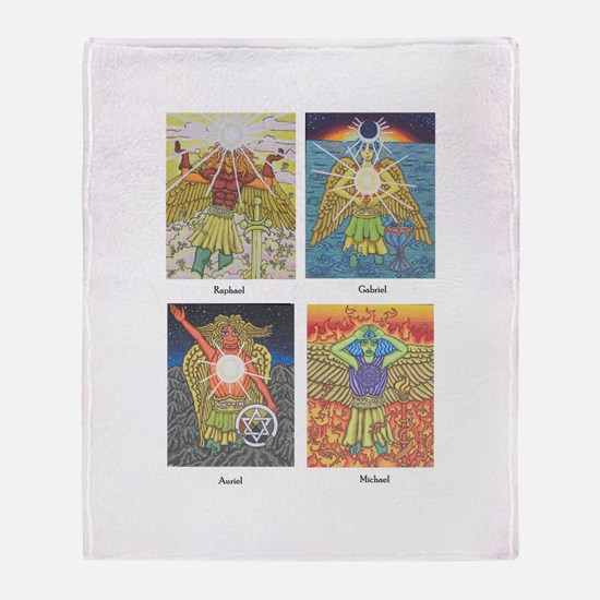 Four Archangels Throw Blanket
