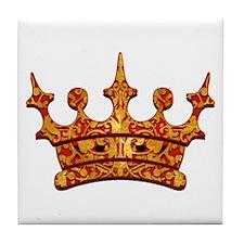 Gold Leaf Crown Tile Coaster