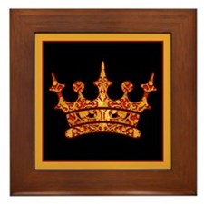 Gold Leaf Crown Framed Tile