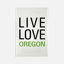 Live Love Oregon Rectangle Magnet