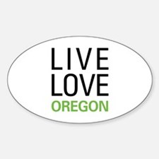 Live Love Oregon Decal
