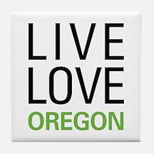 Live Love Oregon Tile Coaster