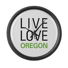 Live Love Oregon Large Wall Clock
