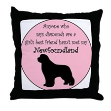Girls Best Friend Throw Pillow