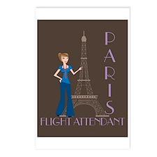 Paris Flight Attendant Postcards (Package of 8)