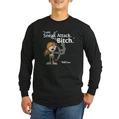 Haley: Sneak Attack... Long Sleeve Black T-Shirt