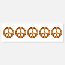 Gold Leaf Peace Bumper Bumper Sticker