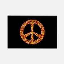 Gold Leaf Peace Rectangle Magnet (10 pack)