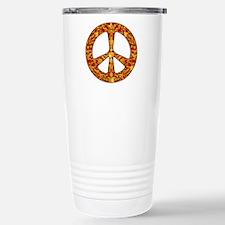Gold Leaf Peace Stainless Steel Travel Mug