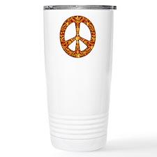 Gold Leaf Peace Travel Coffee Mug