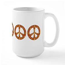 Gold Leaf Peace Mug