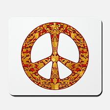 Gold Leaf Peace Mousepad