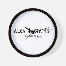 Alea Jacta Wall Clock