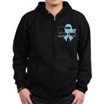 In The Fight Prostate Cancer Zip Hoodie (dark)