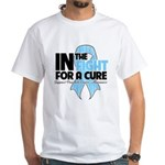 In The Fight Prostate Cancer White T-Shirt