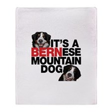 It's a BERNese Mountain Dog Throw Blanket