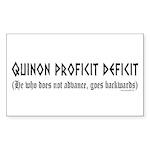 Quinon Sticker (Rectangle 10 pk)