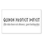 Quinon Sticker (Rectangle 50 pk)