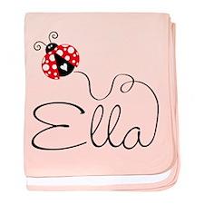 Ladybug Ella baby blanket