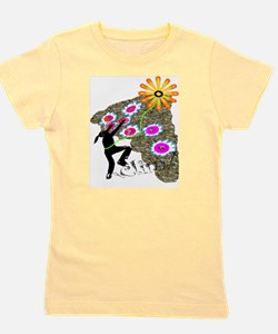 Young Girl Flower Climber Kids T-Shirt