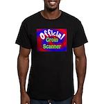 Groin Scanner Men's Fitted T-Shirt (dark)