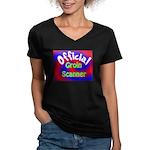 Groin Scanner Women's V-Neck Dark T-Shirt