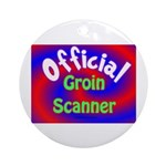 Groin Scanner Ornament (Round)