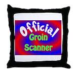 Groin Scanner Throw Pillow