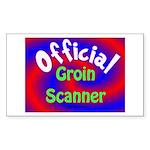 Groin Scanner Sticker (Rectangle 50 pk)