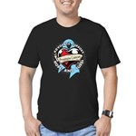 Heart Ribbon Prostate Cancer Men's Fitted T-Shirt