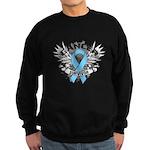 Grunge Prostate Cancer Sweatshirt (dark)