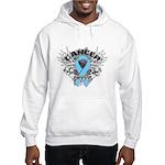 Grunge Prostate Cancer Hooded Sweatshirt