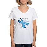Hero Ribbon Prostate Cancer Women's V-Neck T-Shirt
