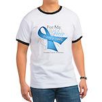 Hero Ribbon Prostate Cancer Ringer T