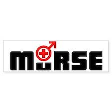 Design_2_Murse dark red Bumper Bumper Sticker