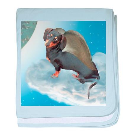 Angel Dachshund Dogs baby blanket