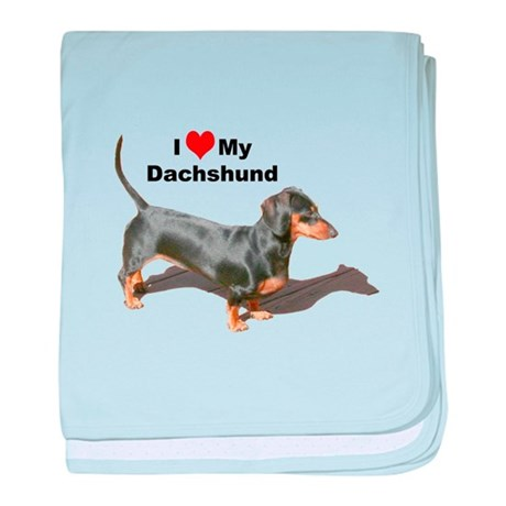 Doxie Love baby blanket