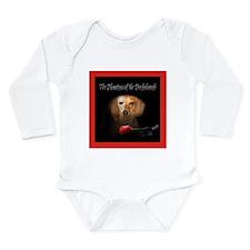 Phantom Doxie Long Sleeve Infant Bodysuit